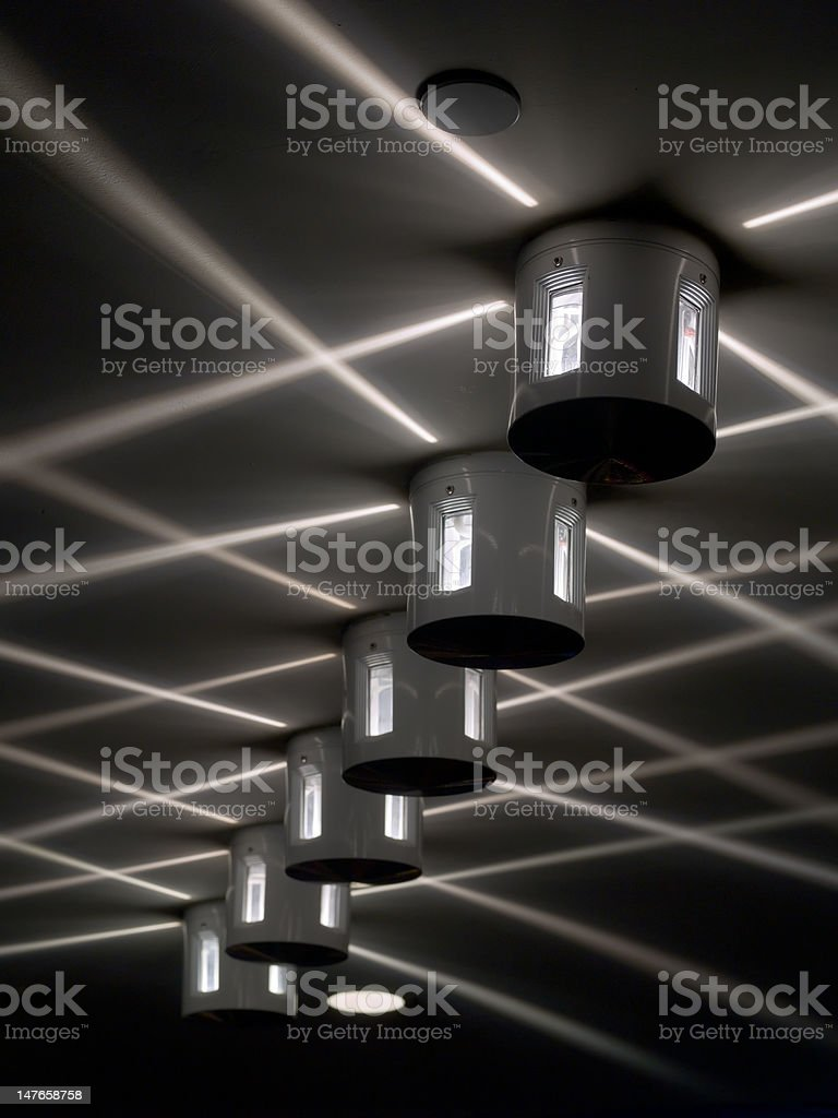 Ceiling Lights stock photo