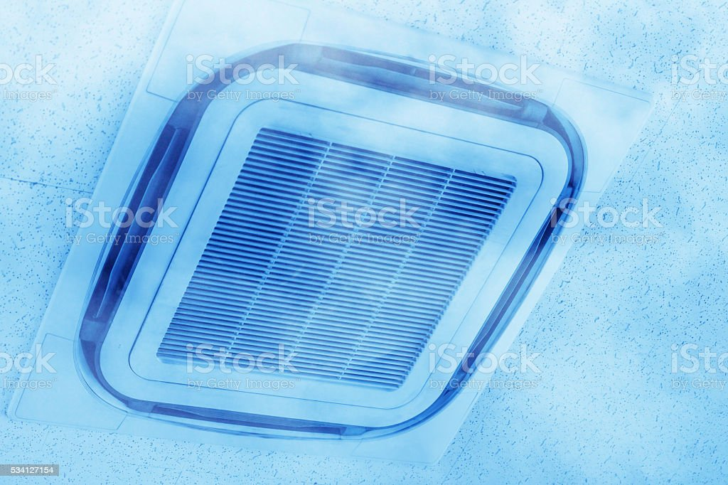 Ceiling Mounted Air Conditioner. stock photo