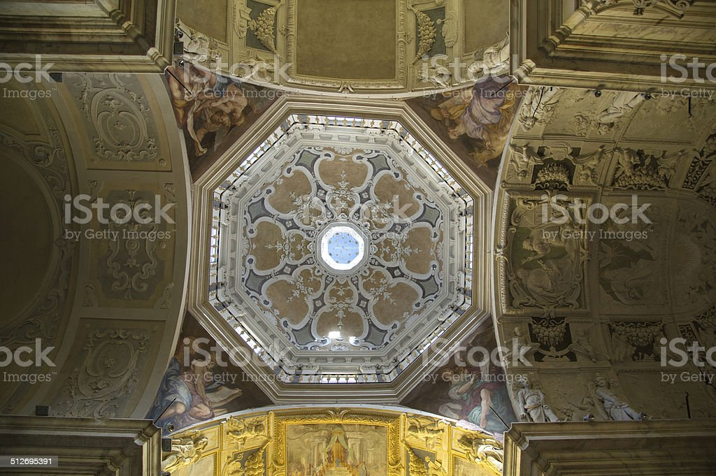 Ceiling of a church royalty-free stock photo