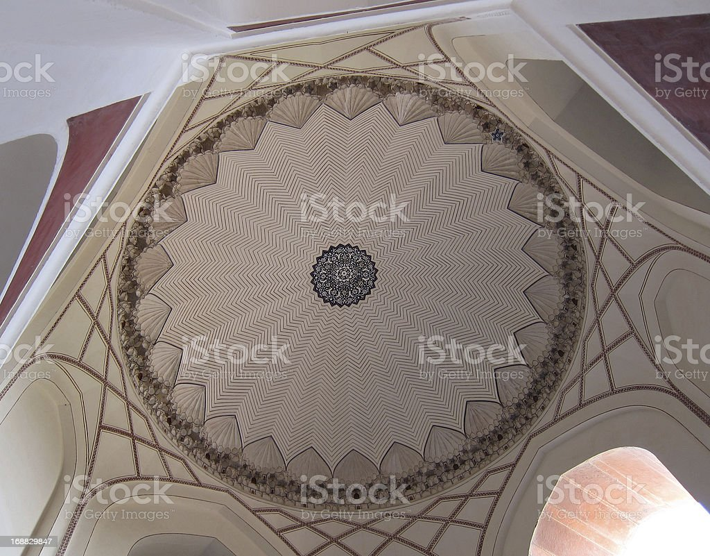 Ceiling of a dome. royalty-free stock photo