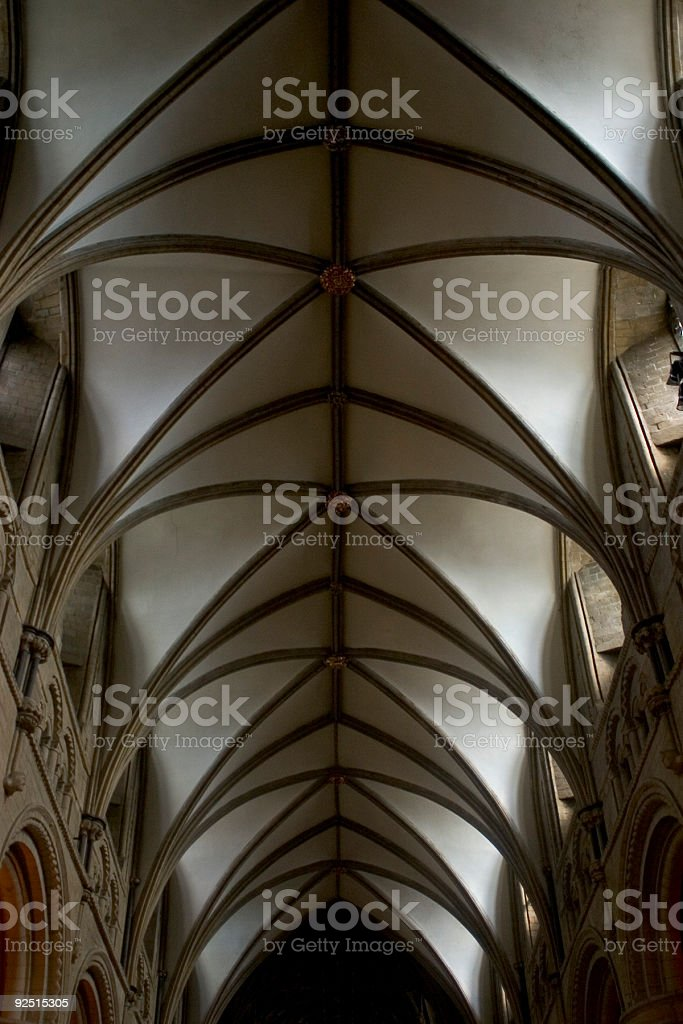 Ceiling of cathedral nave royalty-free stock photo