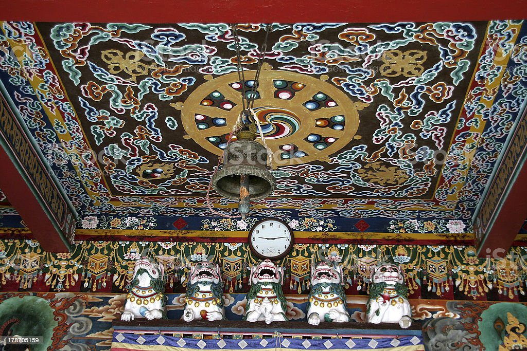 Ceiling of Monastery royalty-free stock photo