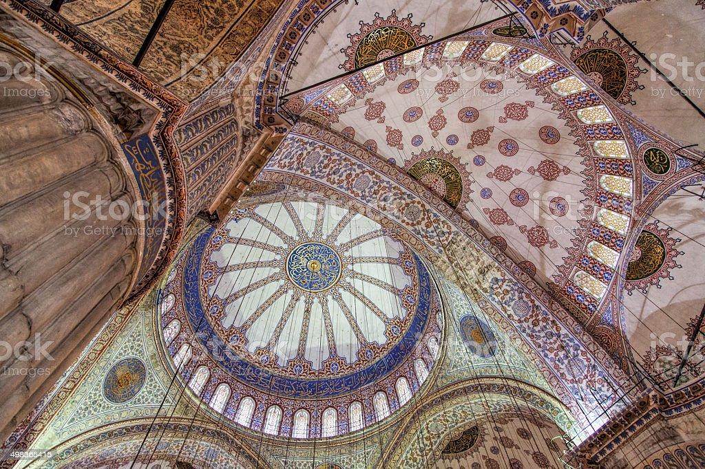 Ceiling of the Eminonu Mosque (New Mosque) stock photo