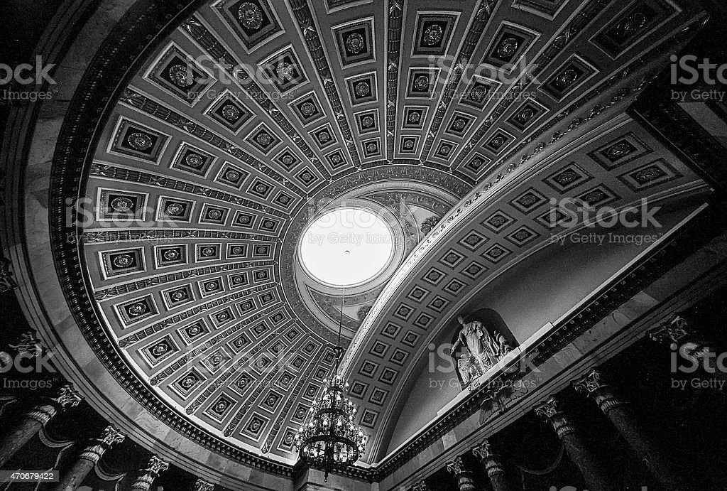 Ceiling Of The Old House Of Representatives Chamber stock photo