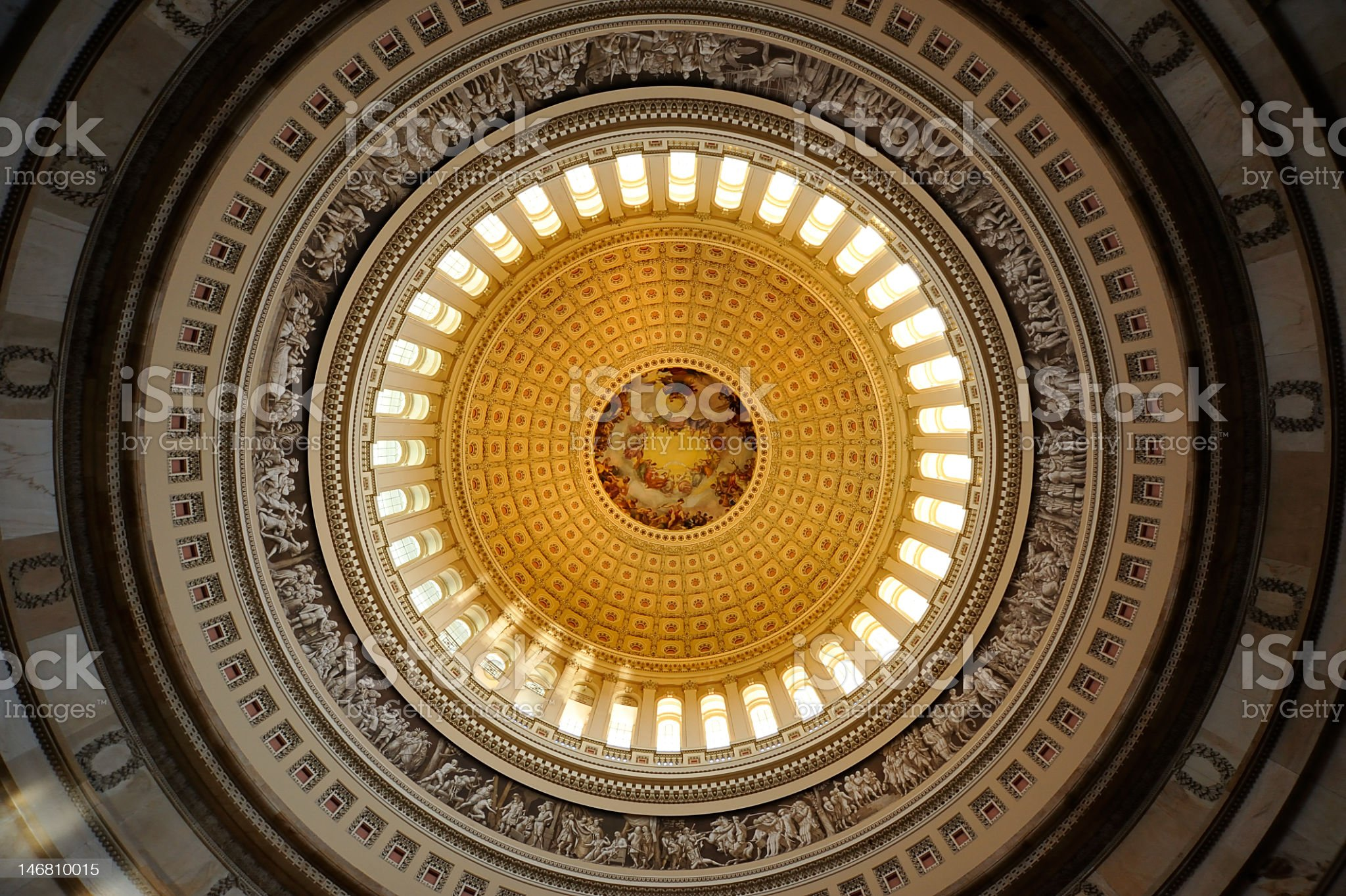 Ceiling of US Capital Rotunda in Washington DC  royalty-free stock photo