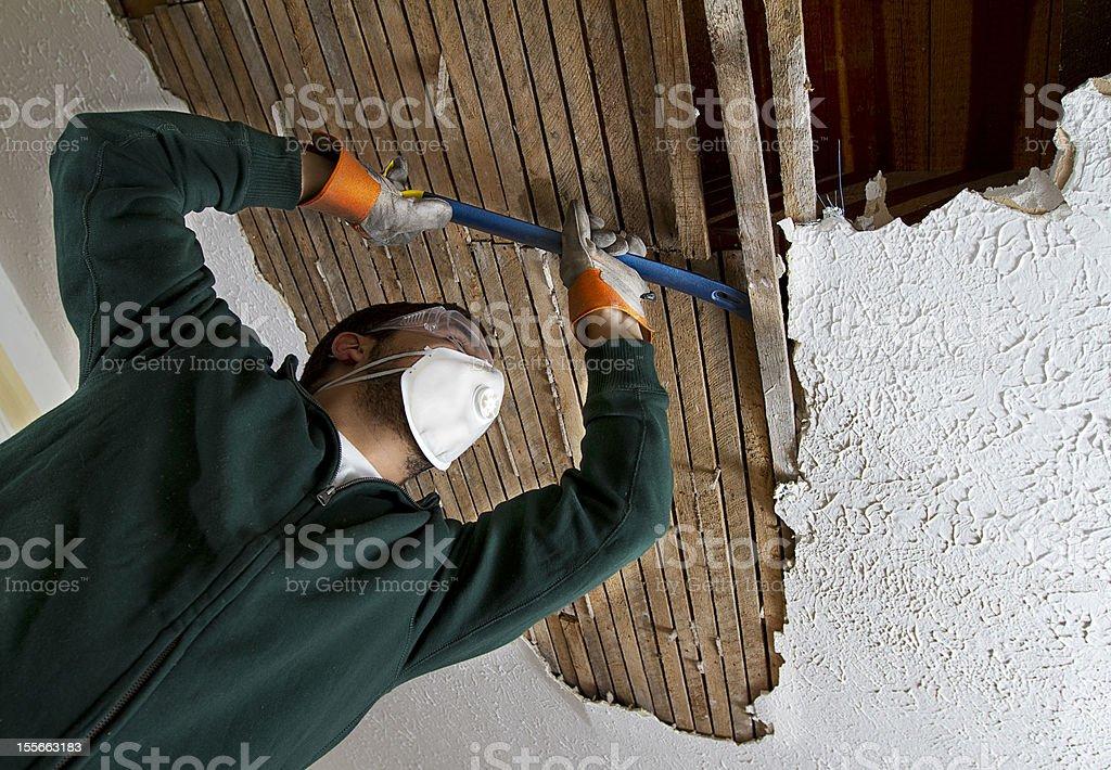 Ceiling Repair royalty-free stock photo