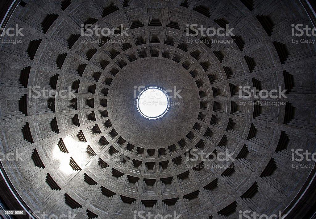 Ceiling semetrical pantheon stock photo