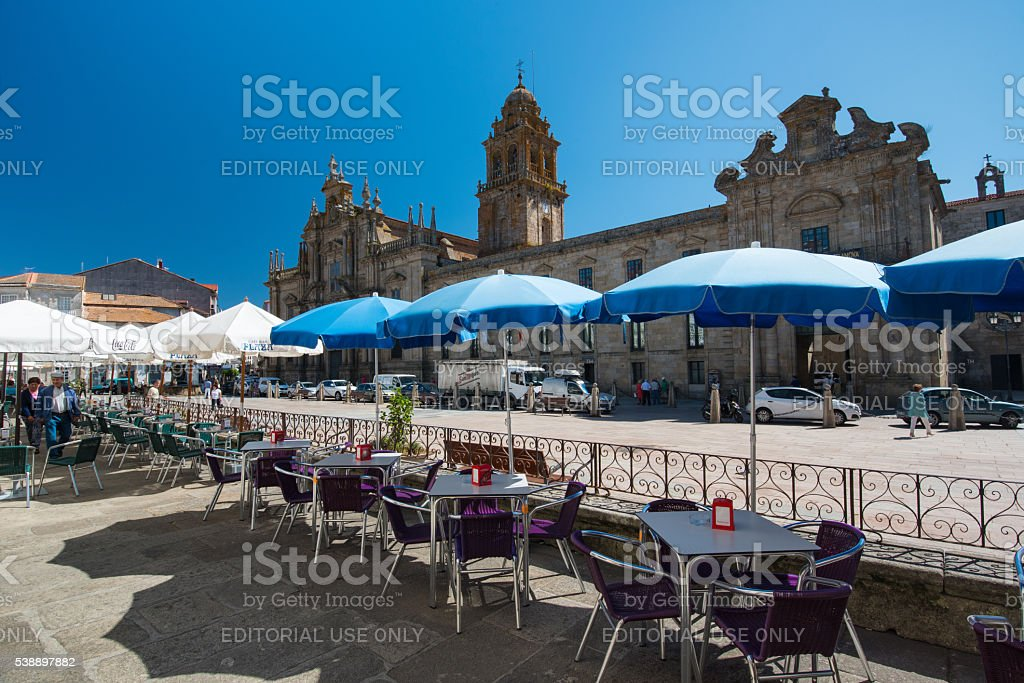 Celanova, Monasterio de San Salvador, Galicia stock photo