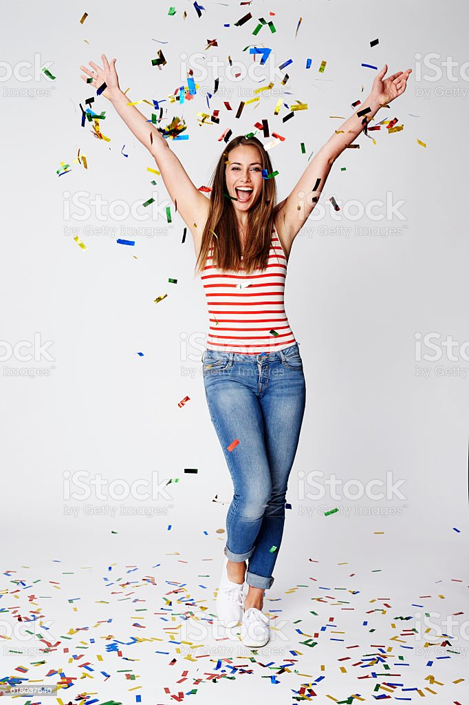 Celebrate good times - come on stock photo