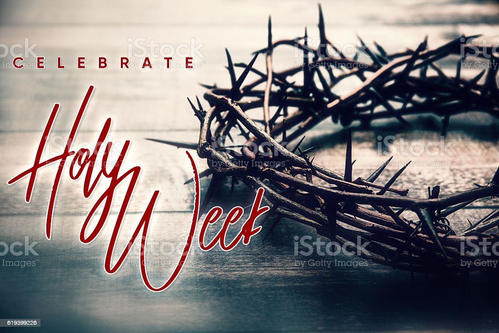 Celebrate Holy Week stock photo