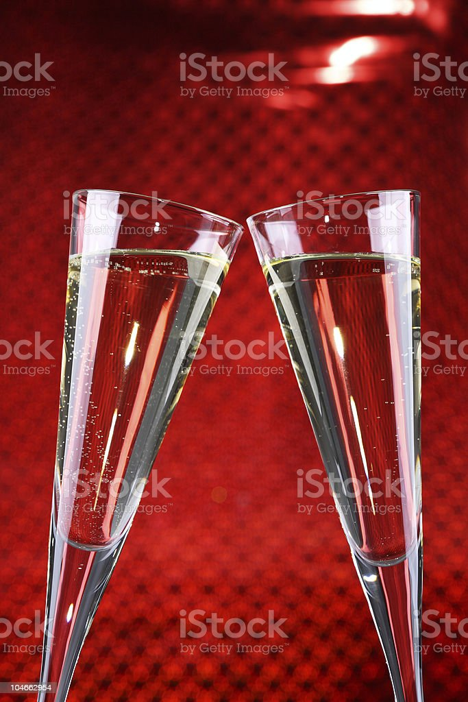 Celebrate with Sparkling Wine Red royalty-free stock photo