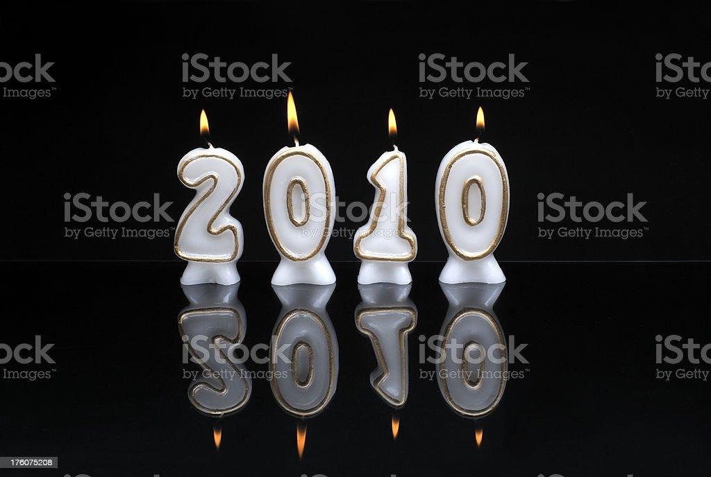 Celebrating 2010 stock photo