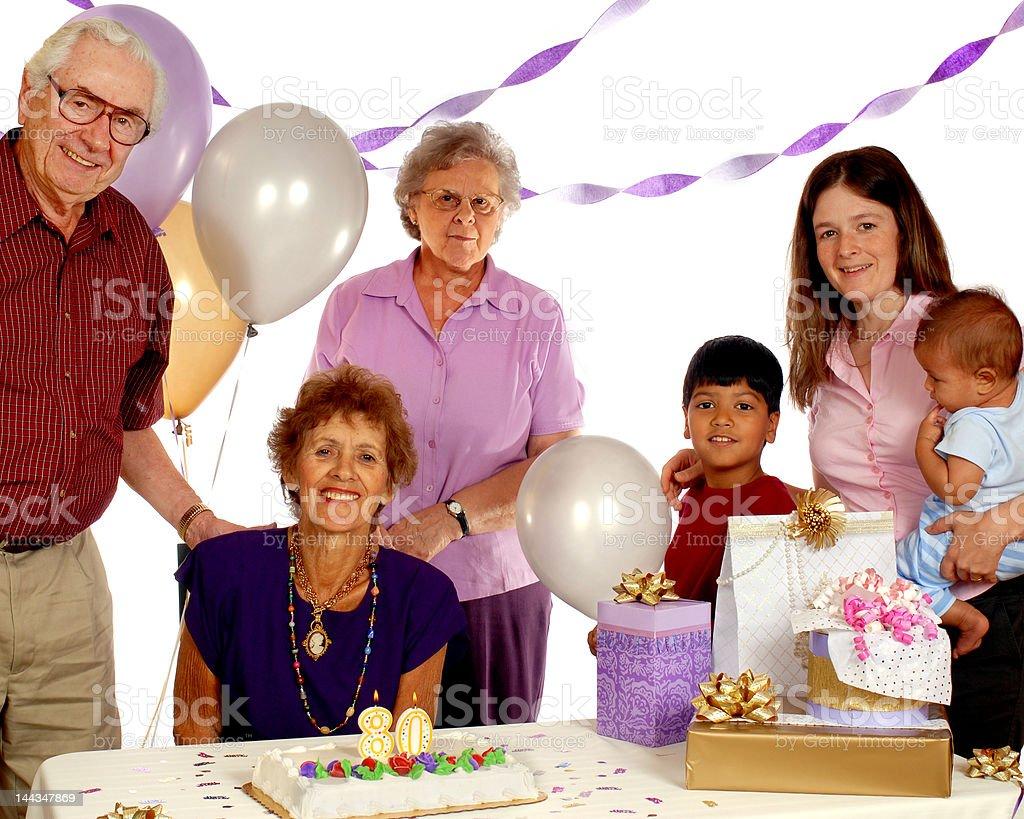 Celebrating 80 Years stock photo