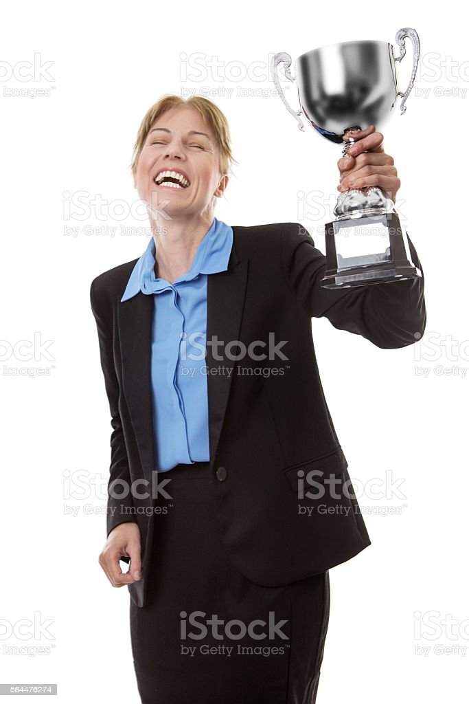 Celebrating a win stock photo