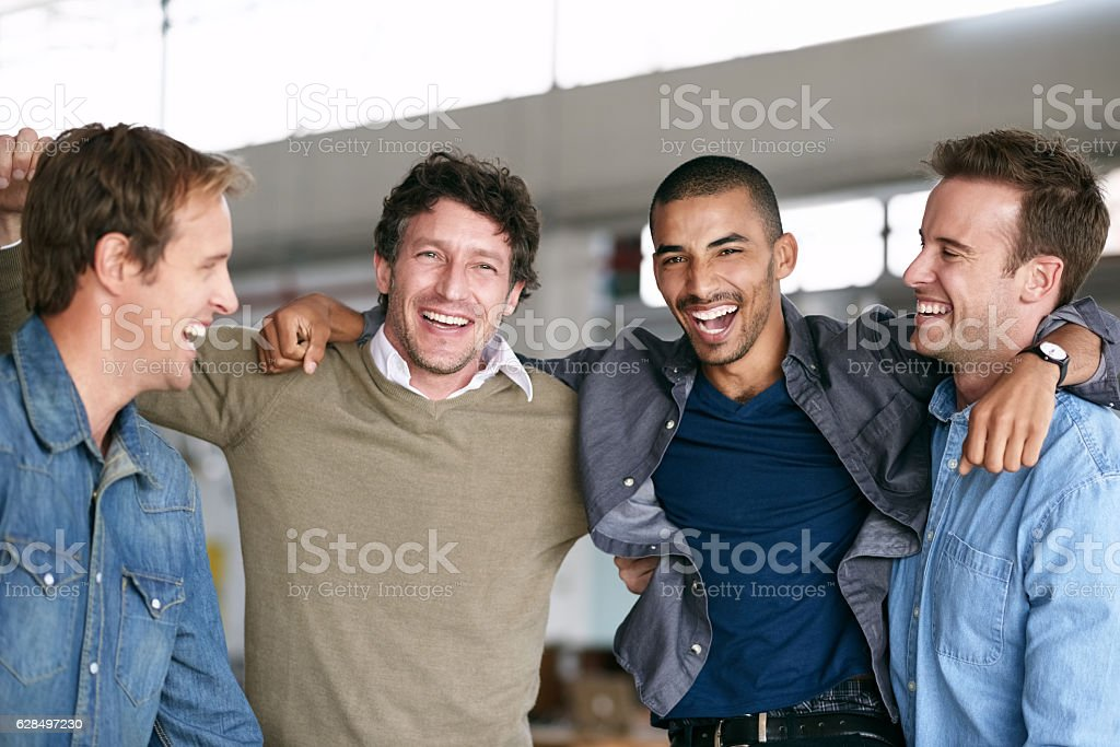 Celebrating another team win! stock photo