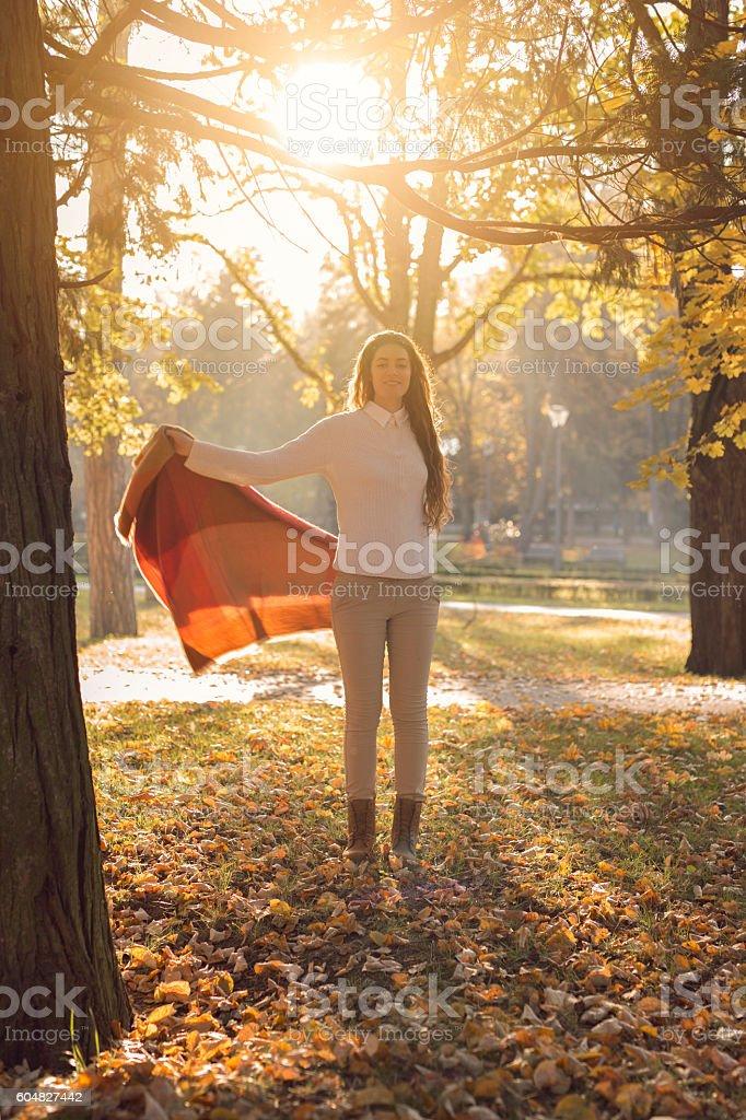 Celebrating autumn stock photo