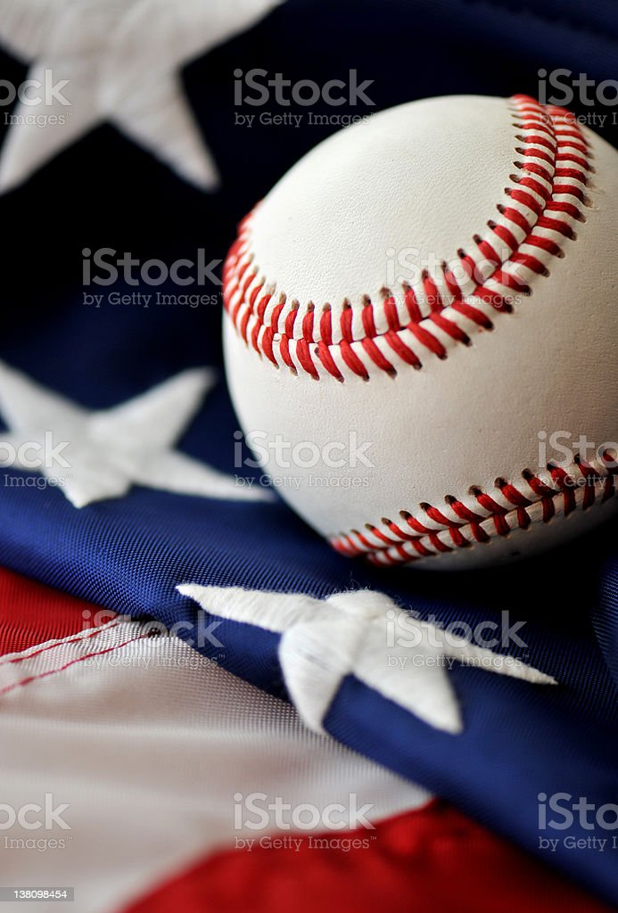 Celebrating Baseball - America's National Passtime stock photo