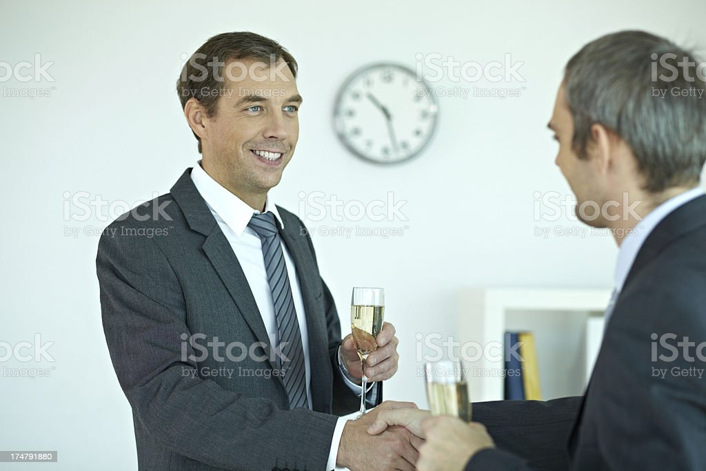 Celebrating business deal royalty-free stock photo