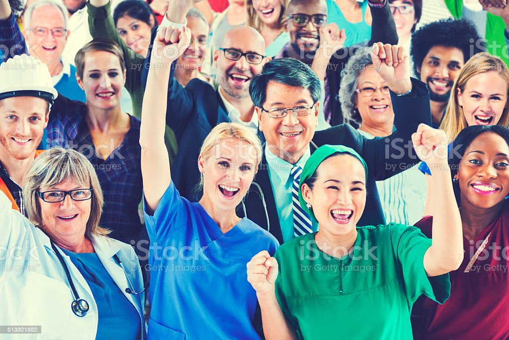 Celebrating Diverse People Various Occupations Concept stock photo