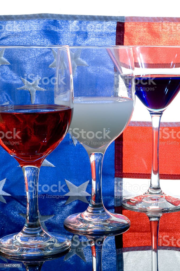 Celebrating Fourth of July - the Red, White and Blue stock photo