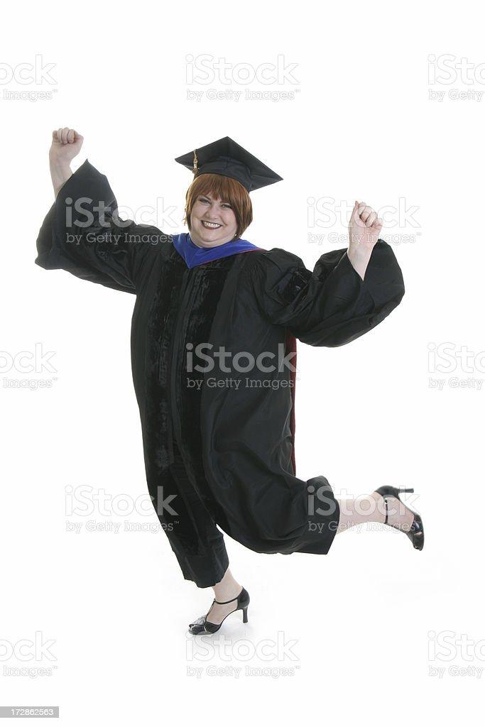 Celebrating Graduate stock photo