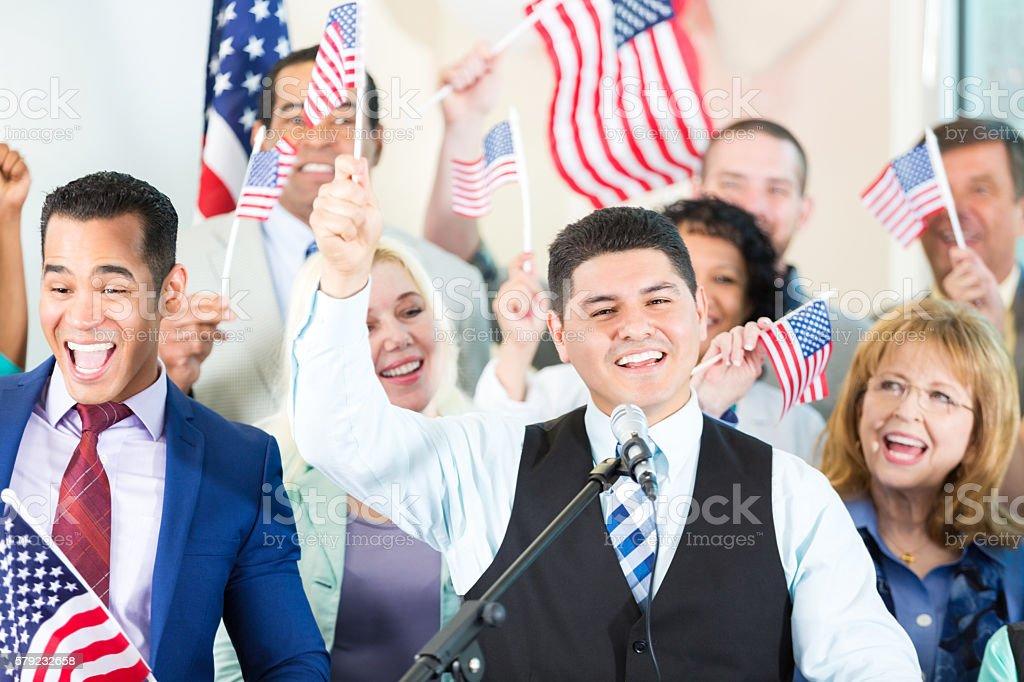 Celebrating Hispanic Politician stock photo