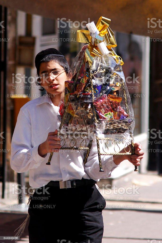 Celebrating Jewish Holiday Purim stock photo