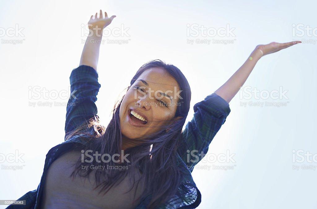Celebrating life stock photo