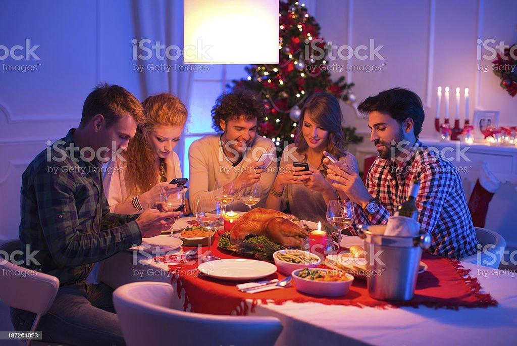 Celebrating new year. royalty-free stock photo