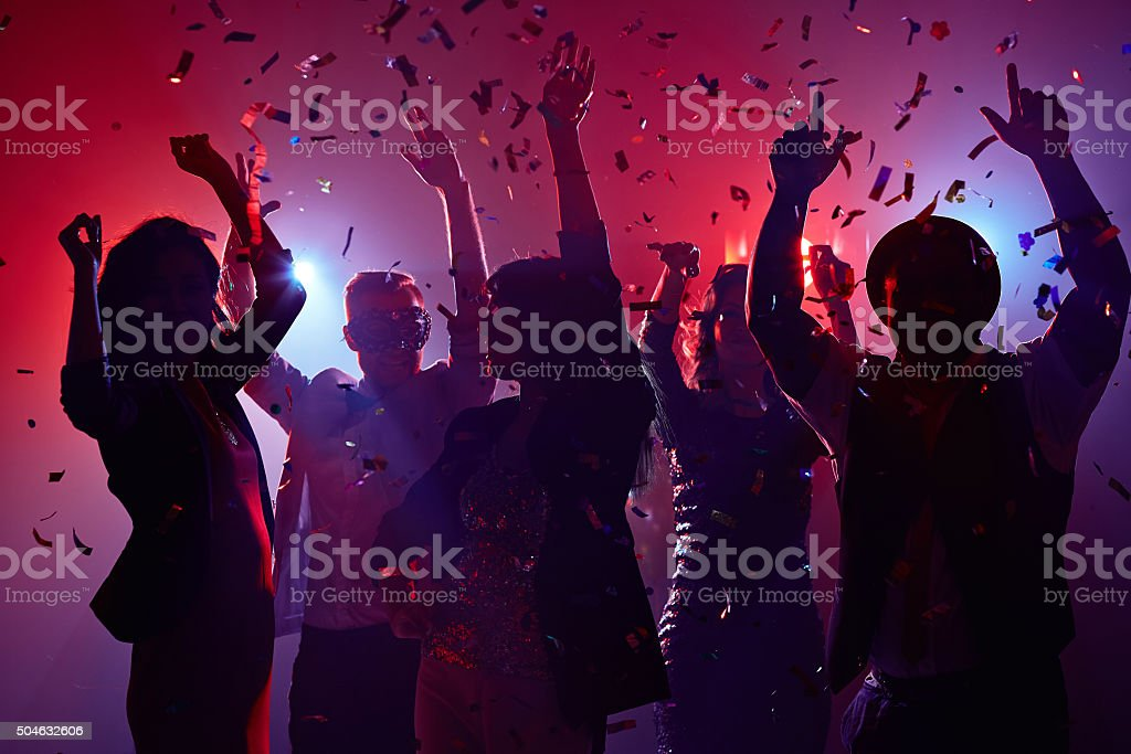 Celebrating New Year stock photo