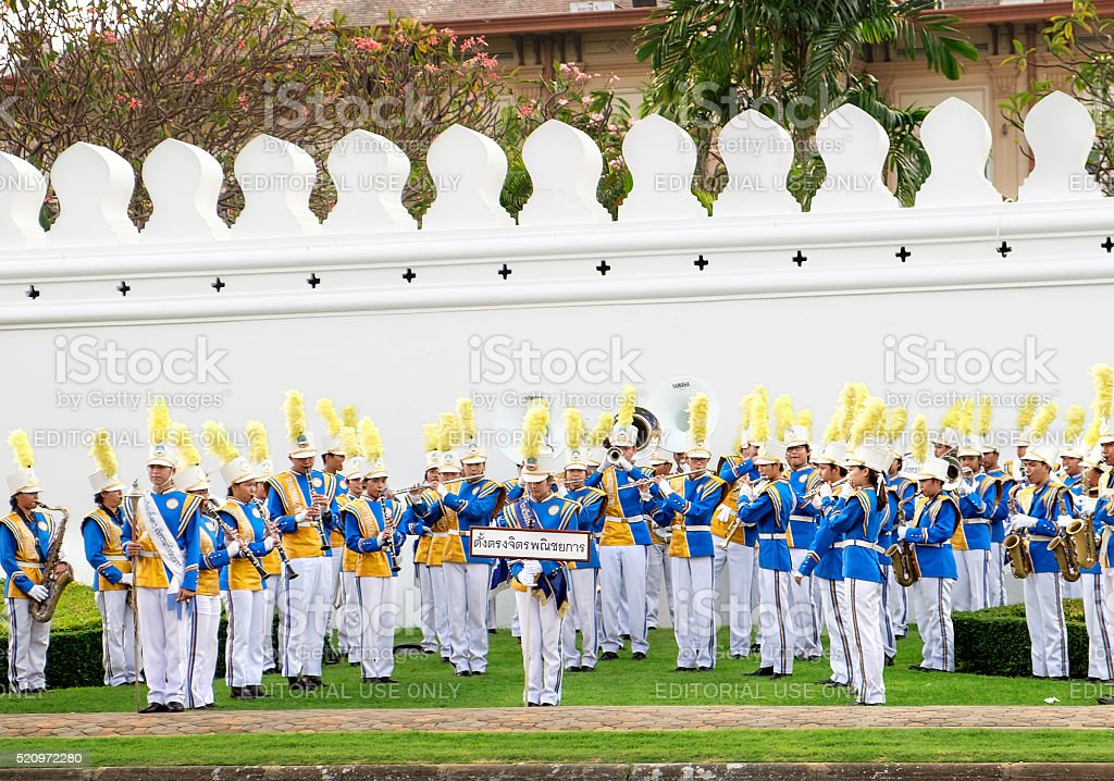 Celebrating of the King Rama 9 birthday, Bangkok, Thailand. stock photo