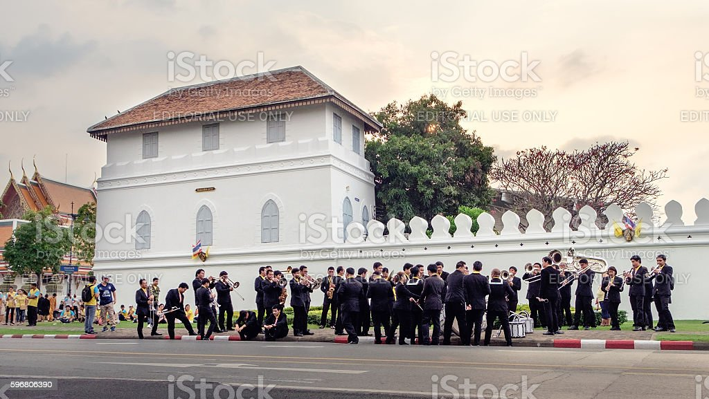 Celebrating of the King Rama 9 birthday,Bangkok, Thailand. stock photo