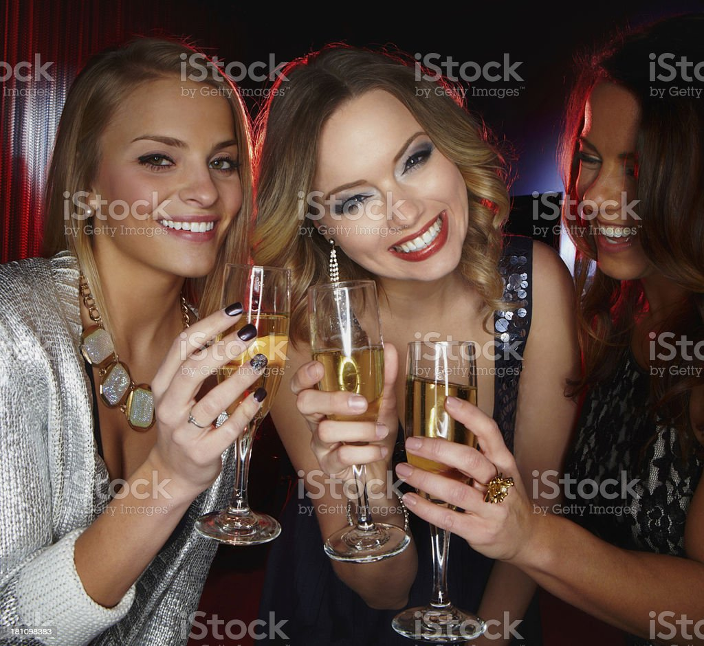 Celebrating our friendship royalty-free stock photo