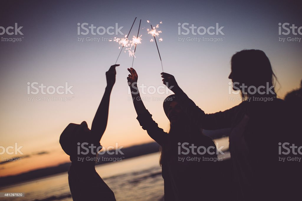 Celebrating our friendship stock photo