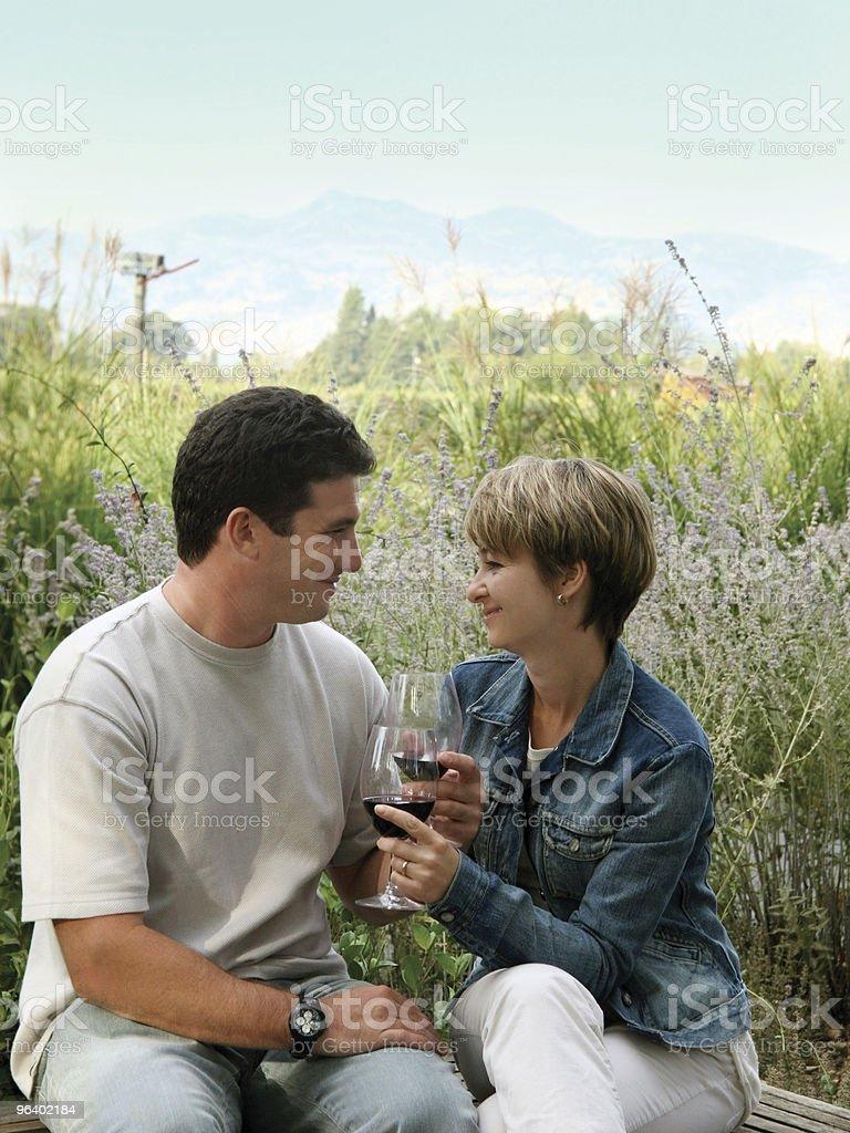 Celebrating outdoors royalty-free stock photo