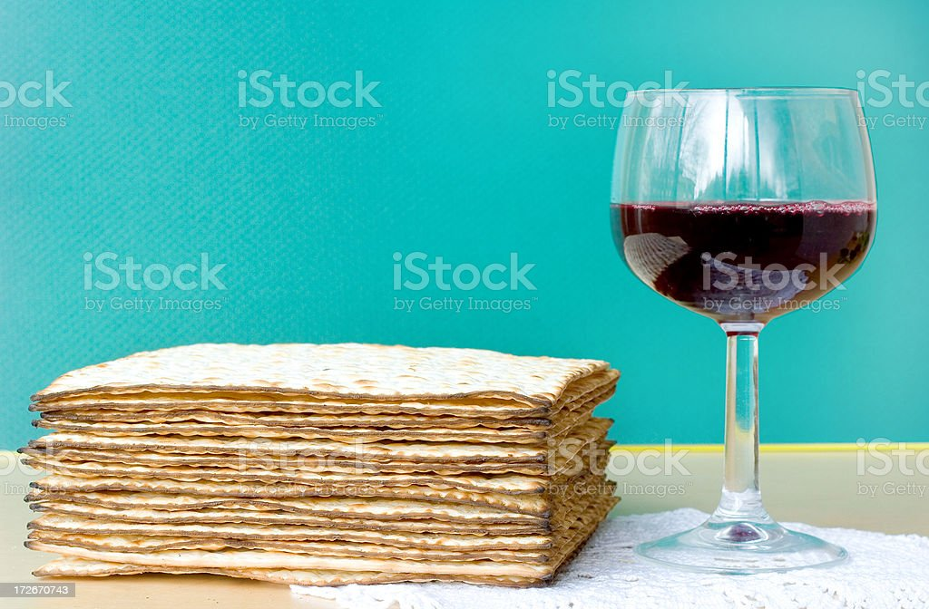 Celebrating Passover stock photo
