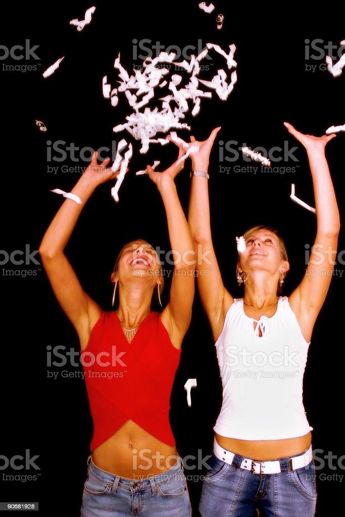 Celebrating!!!! royalty-free stock photo