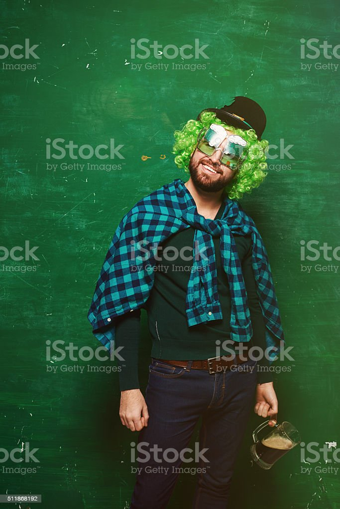 Celebrating St Patrick's Day stock photo