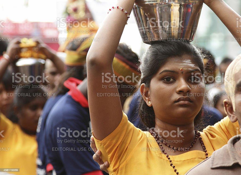 Celebrating Thaipusam stock photo
