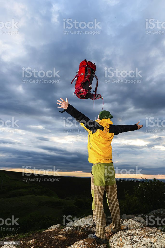Celebrating the Achivement royalty-free stock photo