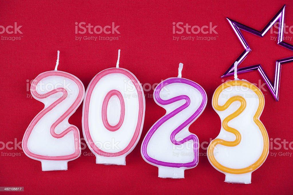 Celebrating the New Year stock photo
