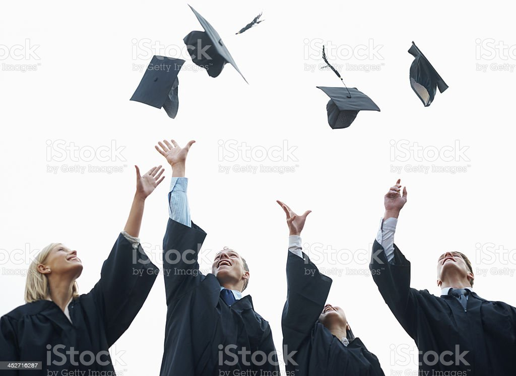 Celebrating the start of their adult lives royalty-free stock photo