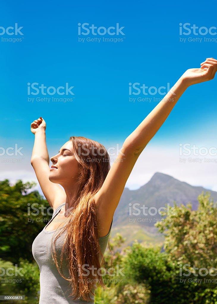 Celebrating the summer stock photo