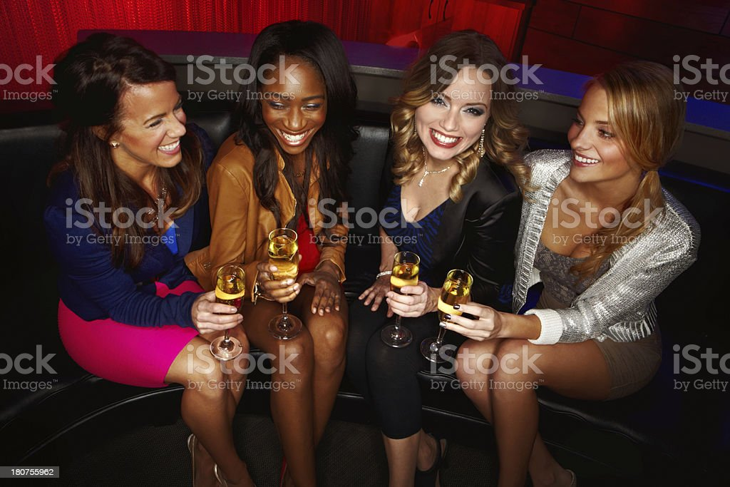 Celebrating their friendship stock photo