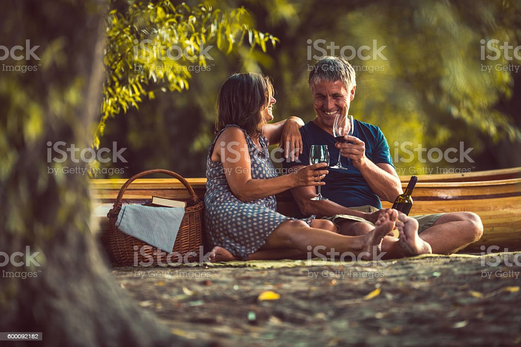 Celebrating their relationship stock photo