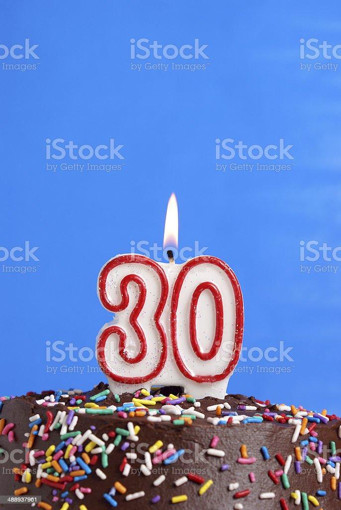 Celebrating Thirty Years stock photo