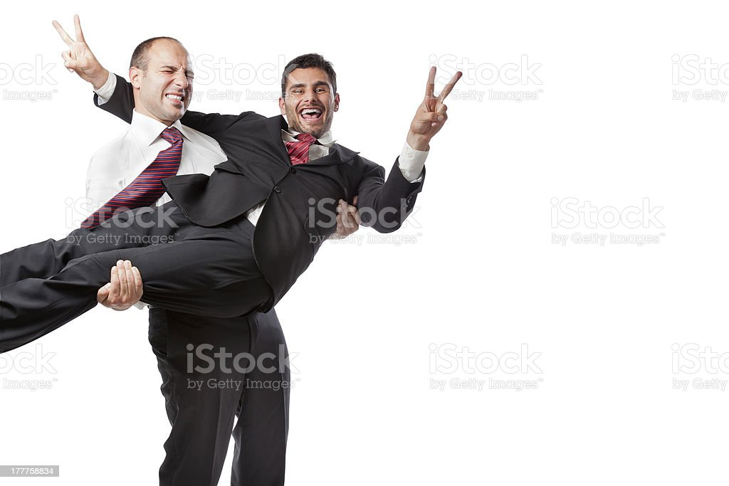Celebrating victory royalty-free stock photo