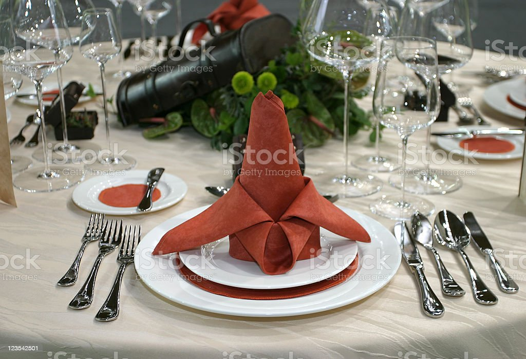 Celebrating with nice diner royalty-free stock photo