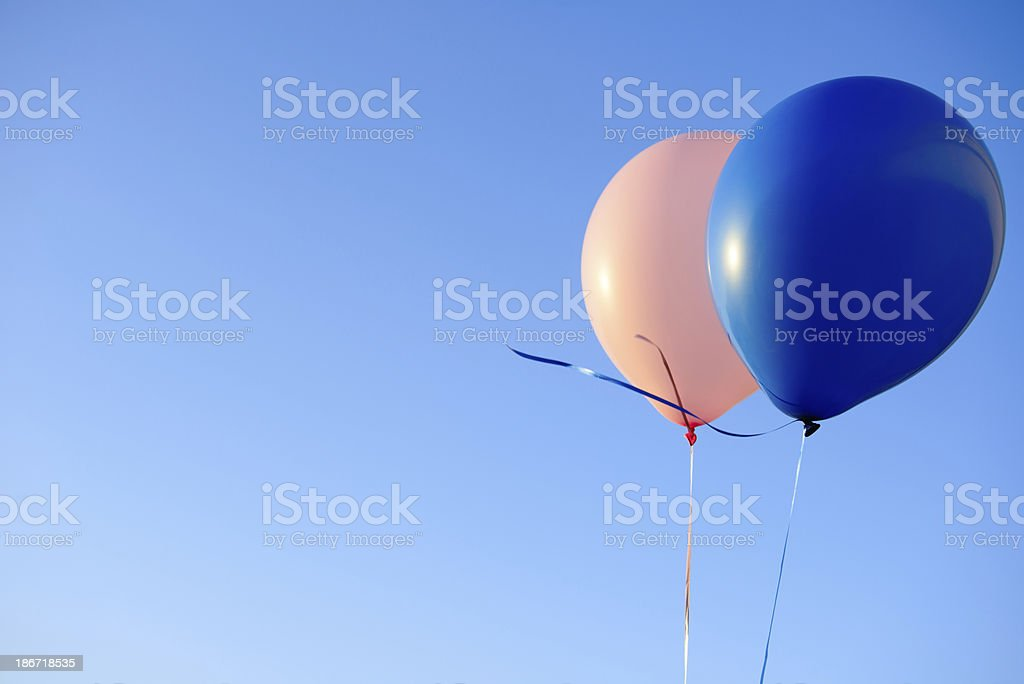 Celebration - Baby Shower Balloons, Horizontal royalty-free stock photo