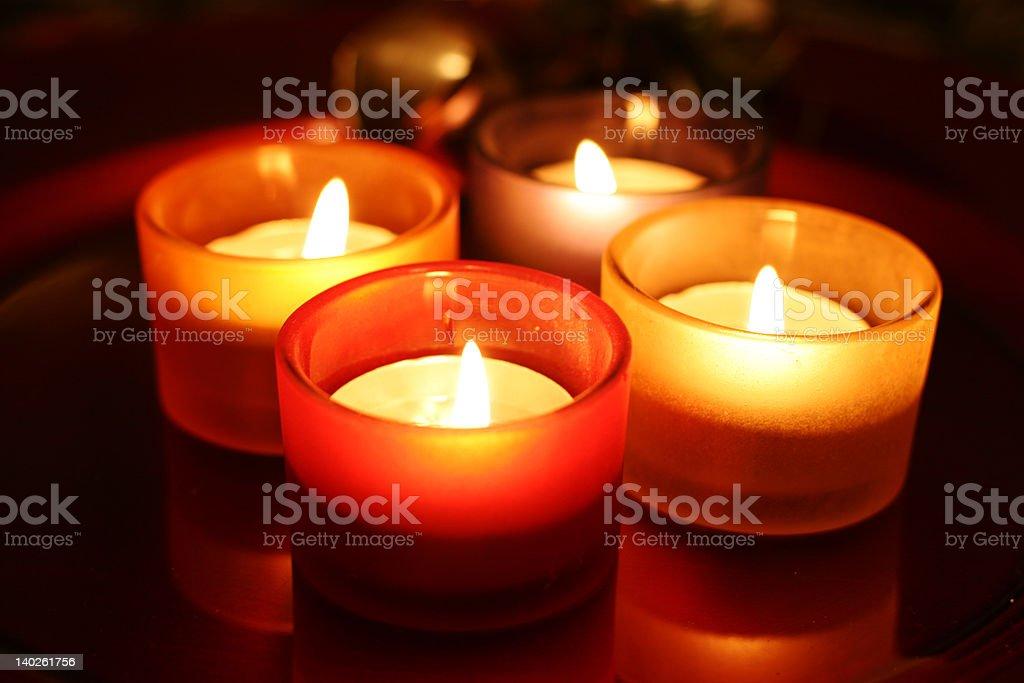 Celebration candles royalty-free stock photo